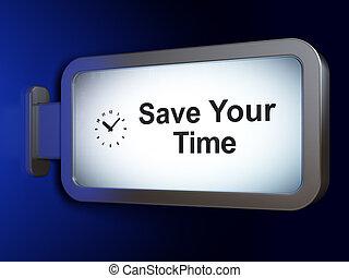 時間, concept:, 之外, 你, 時間, 以及, 鐘, 上, 廣告欄, 背景