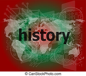 時間, concept:, 歴史, 上に, デジタルバックグラウンド