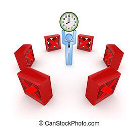 時間, concept., managment