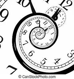 時間, dilation., 反り, -, quantum