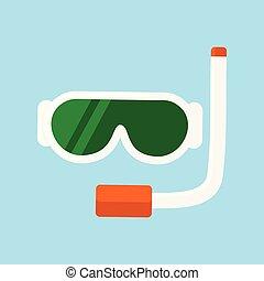 時髦, 水下通气管, 設備, 插圖
