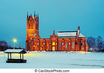 晚上, 瑞典, 教堂