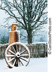 景色優美的冬天