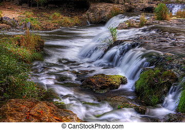 景色, 滝, hdr, カラフルである