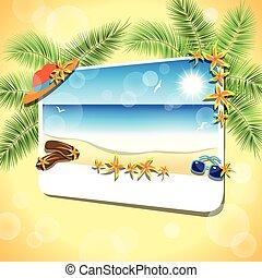 景色。, 砂ビーチ, 映像