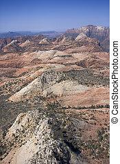 景色。, 砂漠