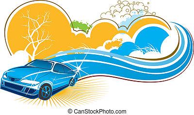 景色, 自動車, 自然