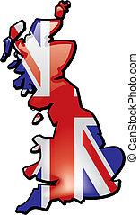 晴朗, 地圖, ......的, 英國