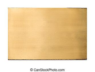 晴朗, 黃銅, 空白, 金屬標誌, 結構