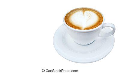 暑い, カプチーノ, コーヒー, latte