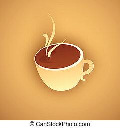 暑い, ペーパー, コーヒー