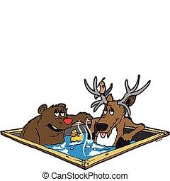 暑い, 動物, tubbin