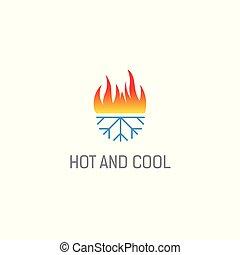 暑い, 寒い, ロゴ