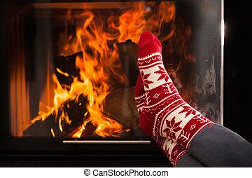 暖かい, 暖炉
