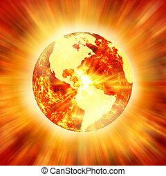 暖まること, 世界的である
