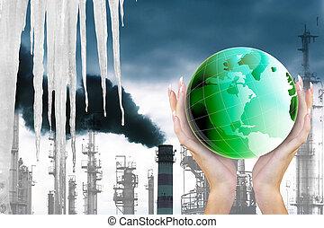 暖まること, 世界的である, 地球