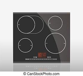 暖炉内部の棚, -, 誘導, 台所