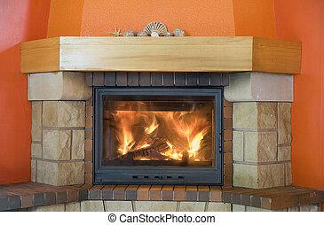 暖炉, 保温カバー