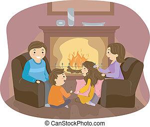 暖炉, 家族