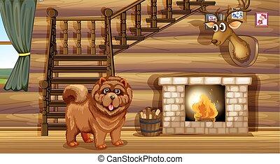 暖炉, 犬