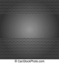 暗い灰色, シート, 穴があいた, 背景