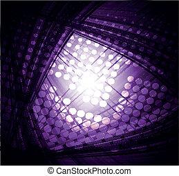 暗い紫色, 技術, 抽象的