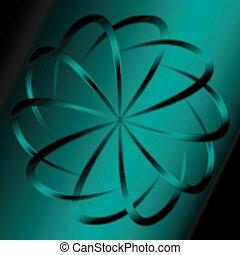 暗い緑, 背景, 円