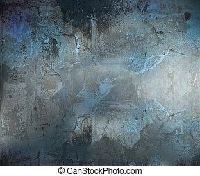 暗い, グランジ, 抽象的, textured, 背景