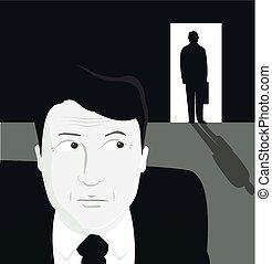 暗い, ビジネスマン, 数字