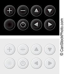 暗い, ライト, ボタン