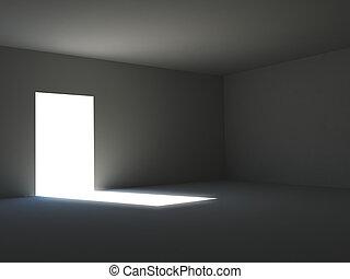 暗い, ライト, 部屋, 包囲された