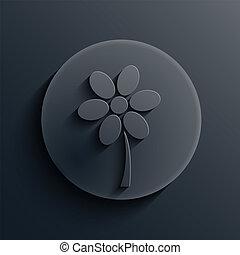 暗い, 円, ベクトル, eps10, icon.