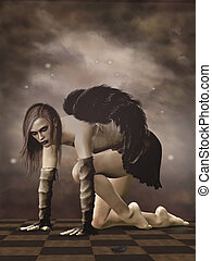 暗い, 天使