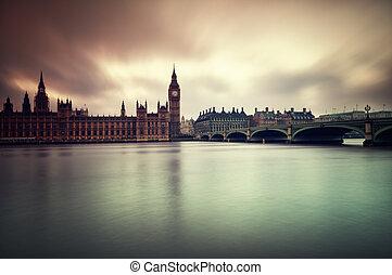 暗い, 家, 憂うつである, 議会, イメージ