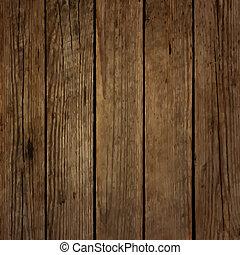 暗い, 木, 板, ベクトル, 背景