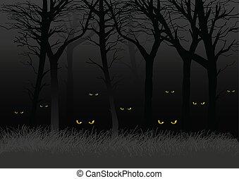 暗い, 森