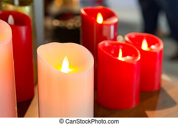 暗い, 燃焼蝋燭の, 背景