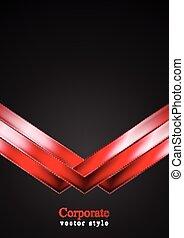 暗い, 矢, 技術, 赤い背景