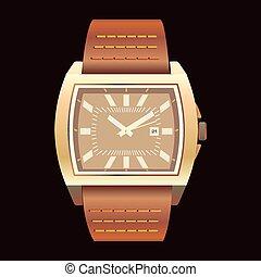 暗い, 腕時計, 背景