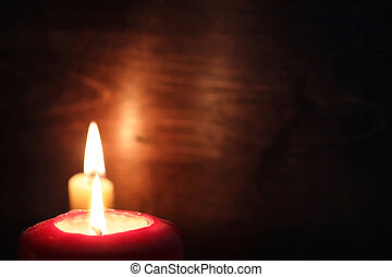暗い, 蝋燭の炎, 燃焼