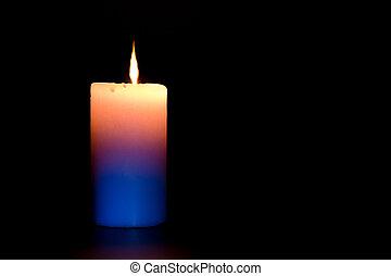 暗い, 蝋燭の炎, 燃焼, 黒