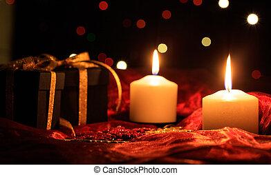 暗い, 蝋燭, 背景