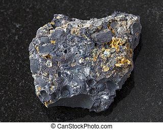 暗い, 鉱石, pisolite, magnetite, hematite