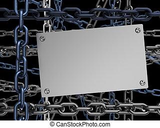 暗い, 鎖, 背景