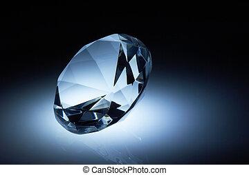暗い 青, ダイヤモンド, 宝石