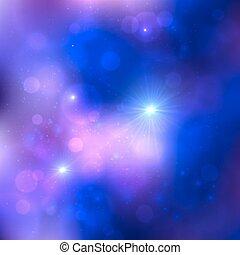 暗い 青, ベクトル, 宇宙, 背景