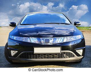 暗い 青, 自動車, 前部