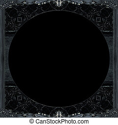 暗い, 飾られる, フレーム, 背景