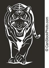 暗い, tiger