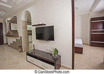 暮らし, アパート, 部屋, デザイン, 贅沢, 内部